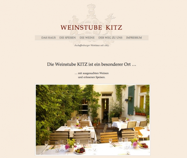 Screenshot www.weinstube-kitz.de
